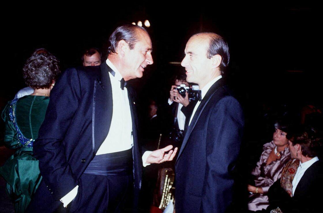 Jacques Chirac et Alain Juppé en 1989.