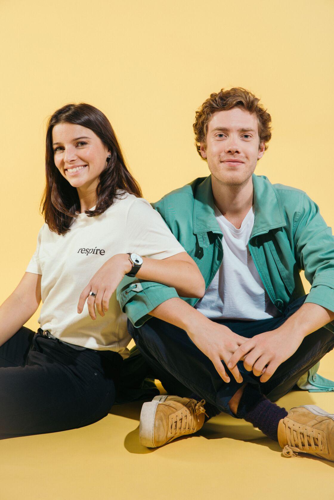 Justine hutteau et Thomas Meheut, son associé pour lancer Respire. Ils se sont rencontrés en école de commerce.