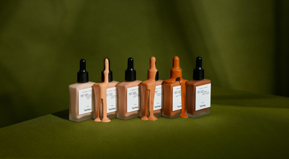 Typology lance Teint, une ligne de six sérums de teint conjuguant maquillage et soin.