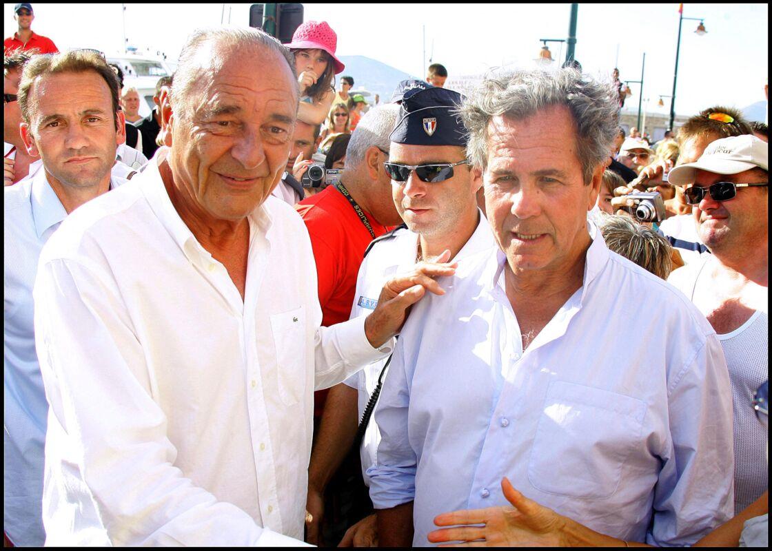 Jacques Chirac et Jean-Louis Debré en vacances à St-Tropez.