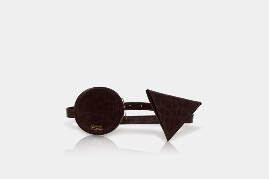 Le sac ceinture croco choco, 240€, Louvreuse Paris