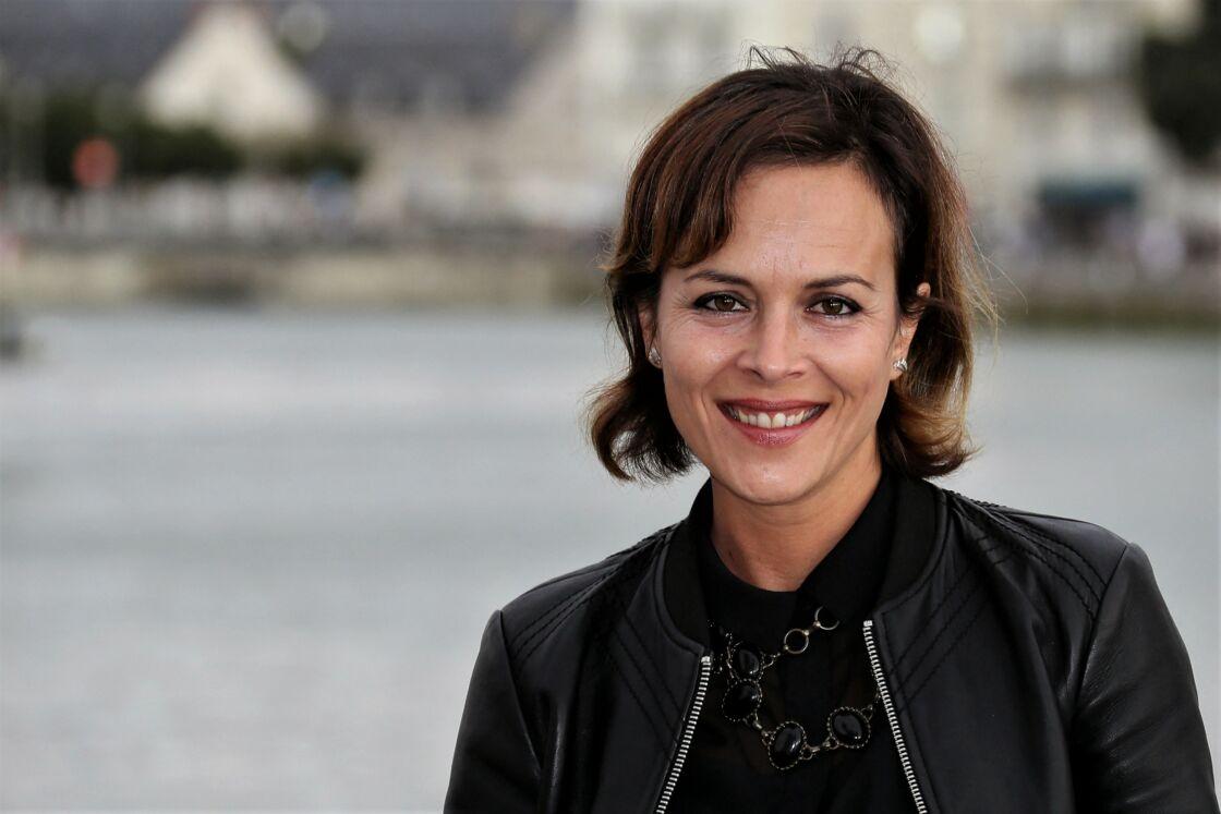 La comédienne Armelle Deutsch, la femme de Thomas Jouannet, au festival de La Rochelle, en 2016.