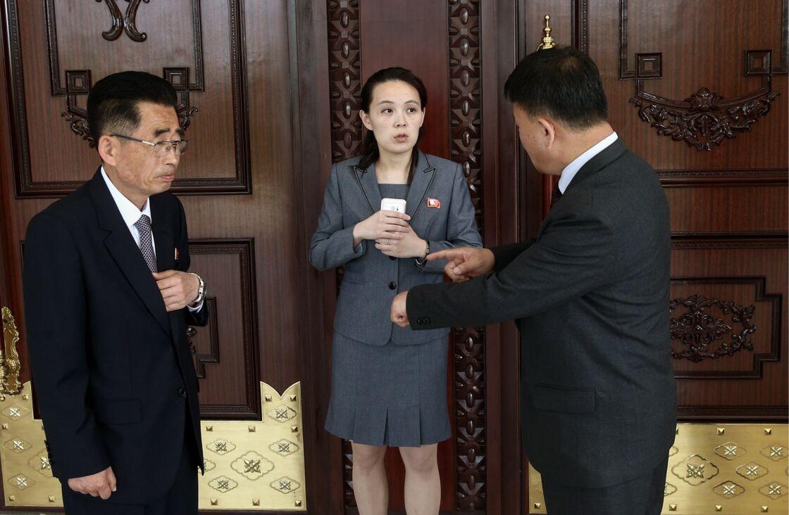 La soeur du dirigeant nord-coréen Kim Yo-jong au Palais du Soleil Kumsusan à Pyongyang. Le 31 mai 2018.