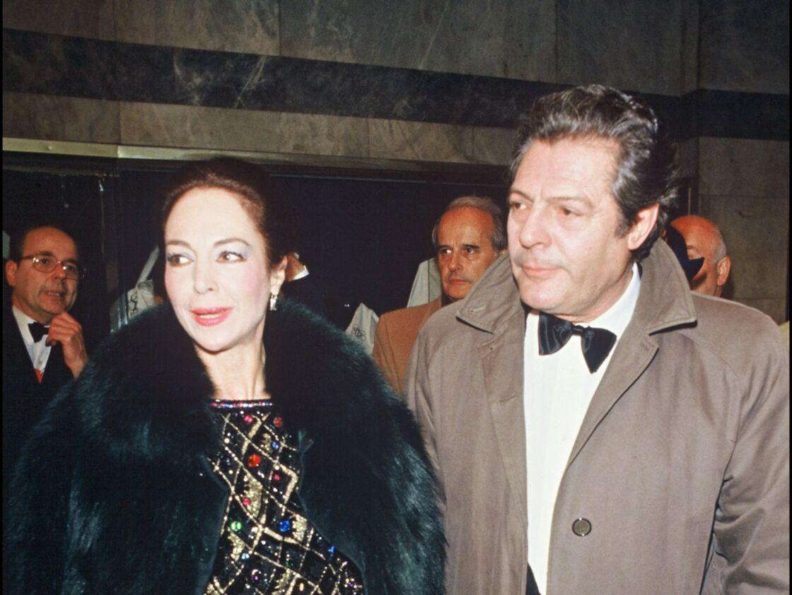 Marcello Mastroianni et son épouse Flora Carabella lors de la soirée des César 1984.