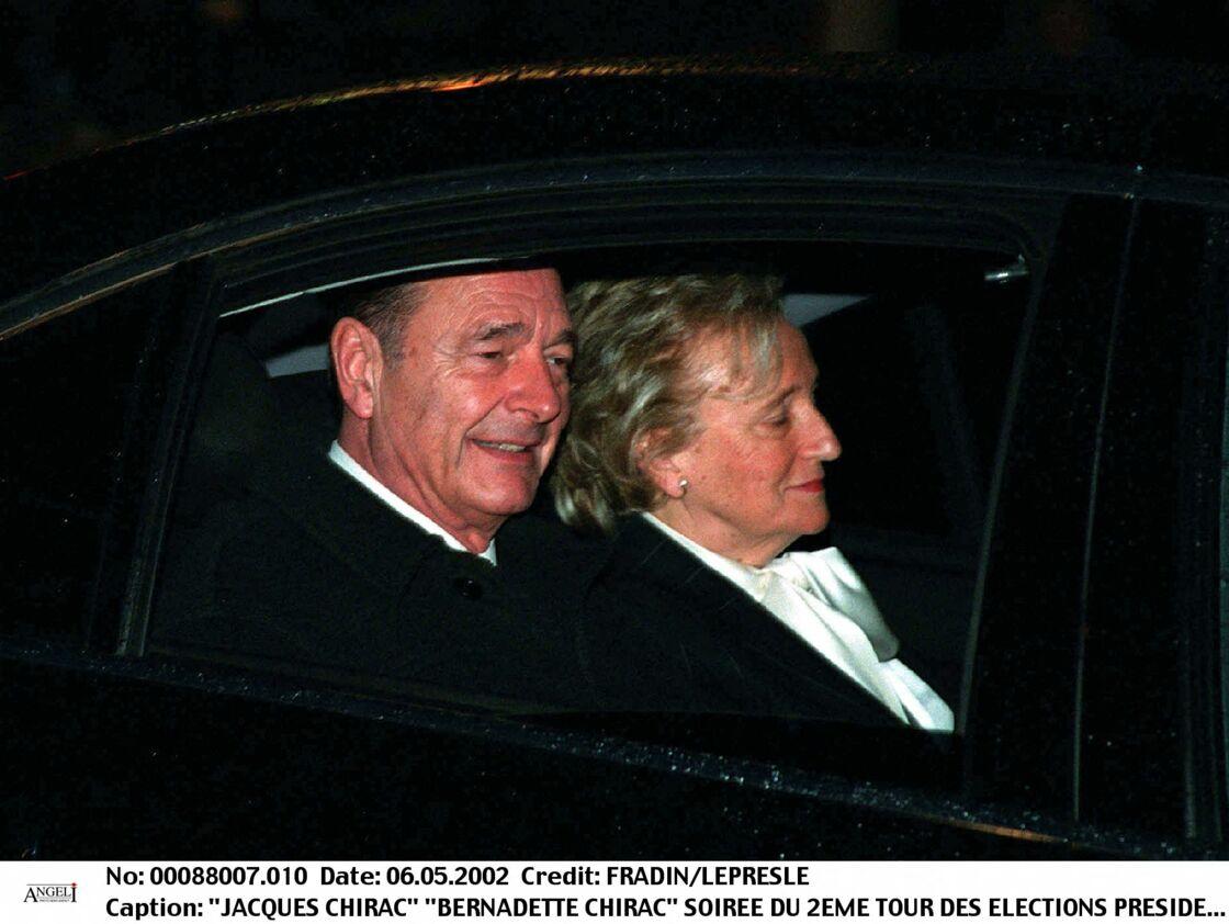 Jacques et Bernadette Chirac - SOIREE DU 2EME TOUR DES ELECTIONS PRESIDENTIELLES 5 MAI 2002