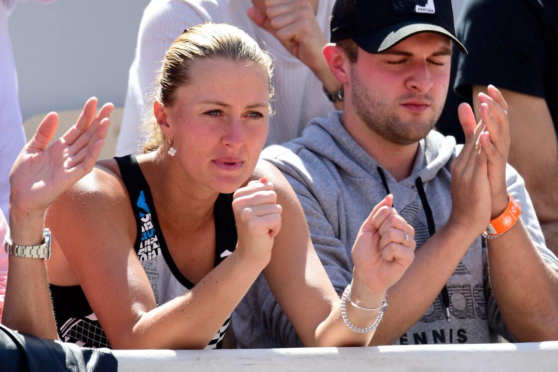 Kristina Mladenovic soutient Dominic Thiem en 2019