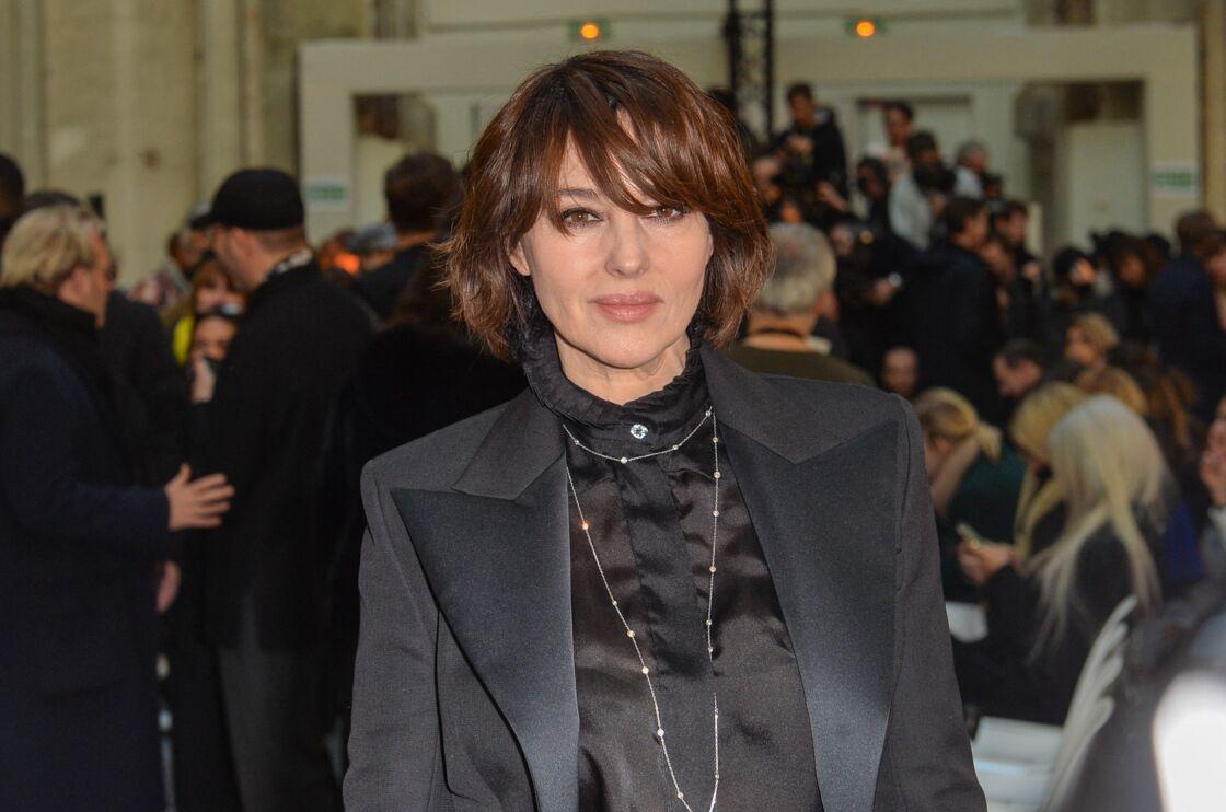 Monica Bellucci - People au défilé de mode Haute-Couture printemps-été 2020 Alexandre Vauthier à Paris. Le 21 janvier 2020