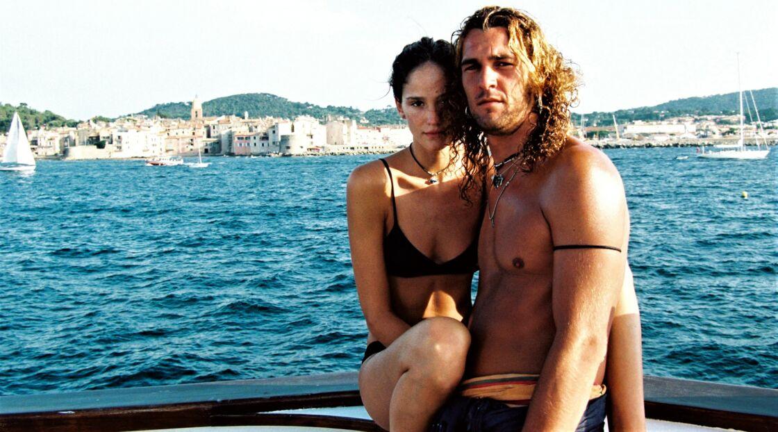 Alé de Basseville et sa compagne de l'époque, le top model Ines Riveiro, à Saint-Tropez, en 1997.