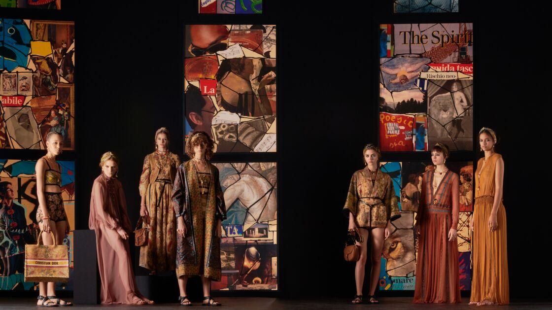 Les silhouettes de poétesses du défilé de prêt-à-porter printemps-été 2021 de Dior. Un panorama des grandes tendances : des shorts à taille haute, des robes fluides, des manteaux de brocart...