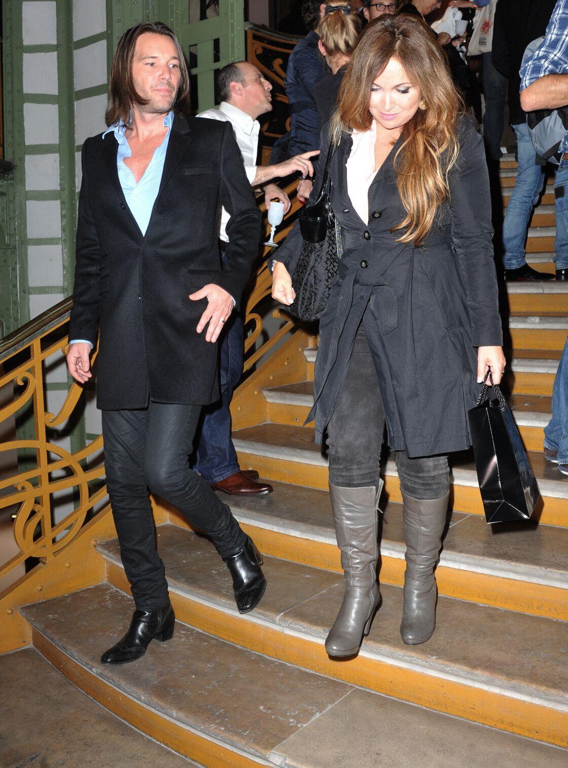 Hélène Ségara et Mathieu Lecat, son mari depuis 2003, à la FIAC de Paris, en 2013.