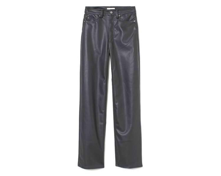 Pantalon en cuir, 34,99€, H&M
