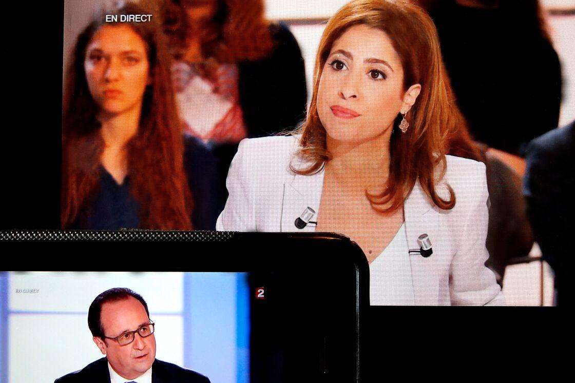 Léa Salamé interviewant François Hollande, en 2016.
