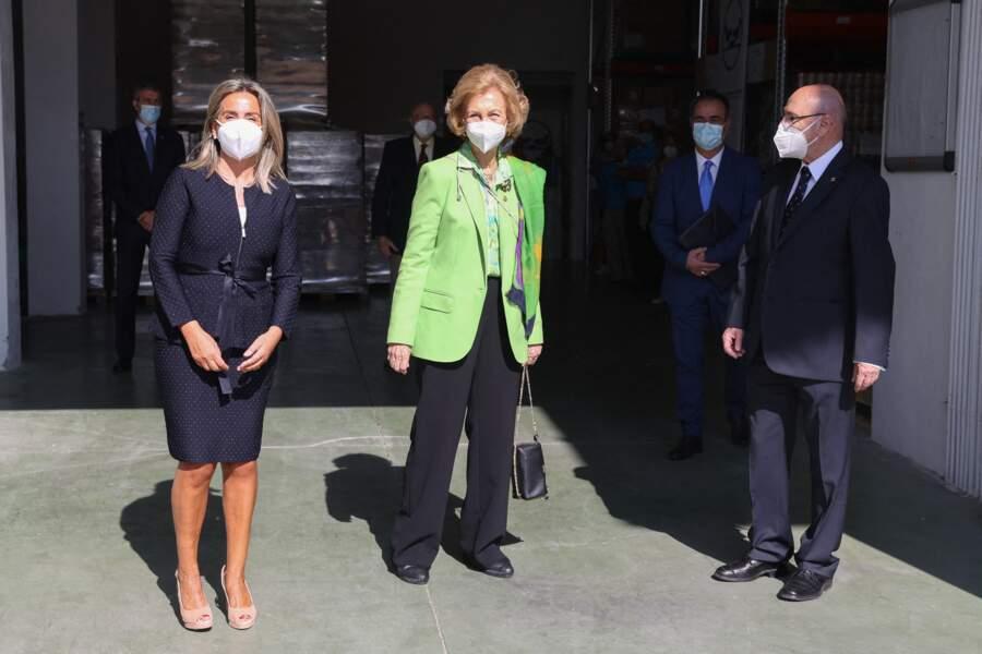 La reine Sofia a visité une banque alimentaire à Tolède, dans le centre de l'Espagne