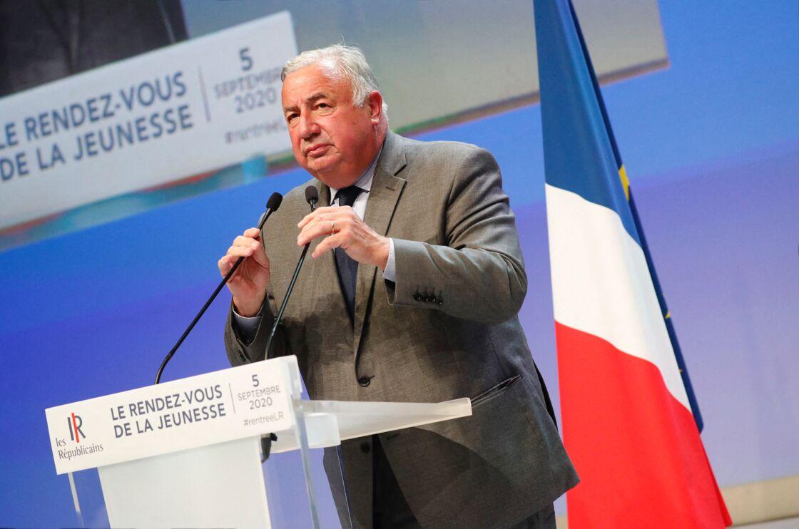Gérard Larcher lors du rendez-vous de la Jeunesse organisé par les Républicains à Port-Marly le 5 septembre 2020.