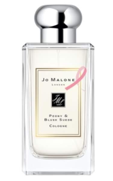 Le parfumeur anglaus Jo Malone versera un pourcentage du prix de vente de Peony&Blush Suede (110€)  à l'association Ruban Rose.