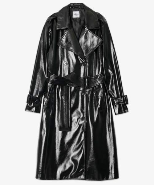 Trench femme vernis, 79€99, Gémo x Lalaa Misaki