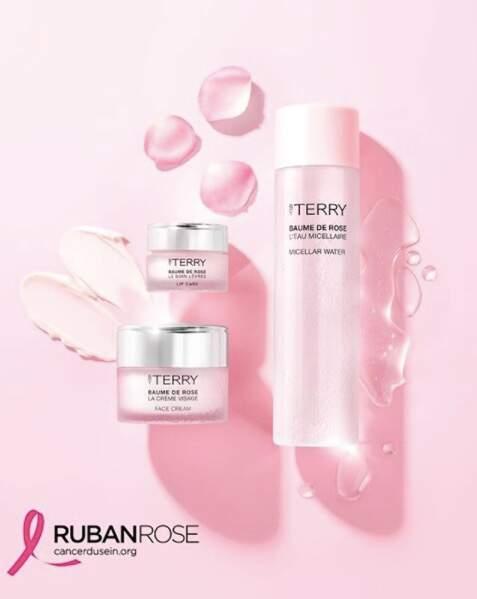 By Terry reverse à l'association Ruban Rose 10% des bénéfices de la gamme à la rose (entre 15 et 69,50€) pour chaque vente sur le site byterry.com durant le mois d'octobre 2020.