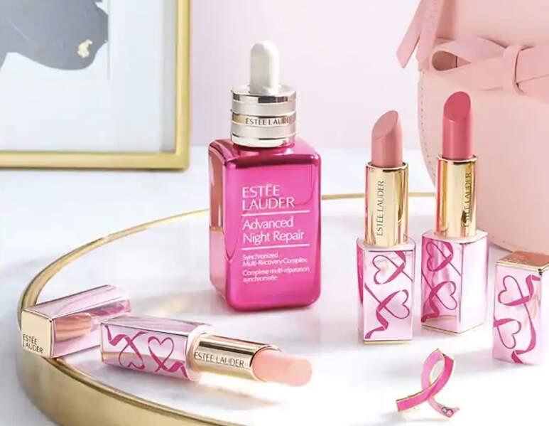 Estée Lauder propose 3 éditions limitée dont une partie des vente est reversée à l'association Ruban Rose.