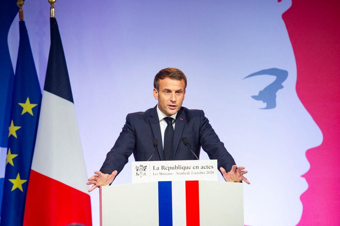 Emmanuel Macron lors de son discours