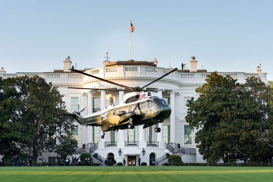 Donald Trump dans le Marine One