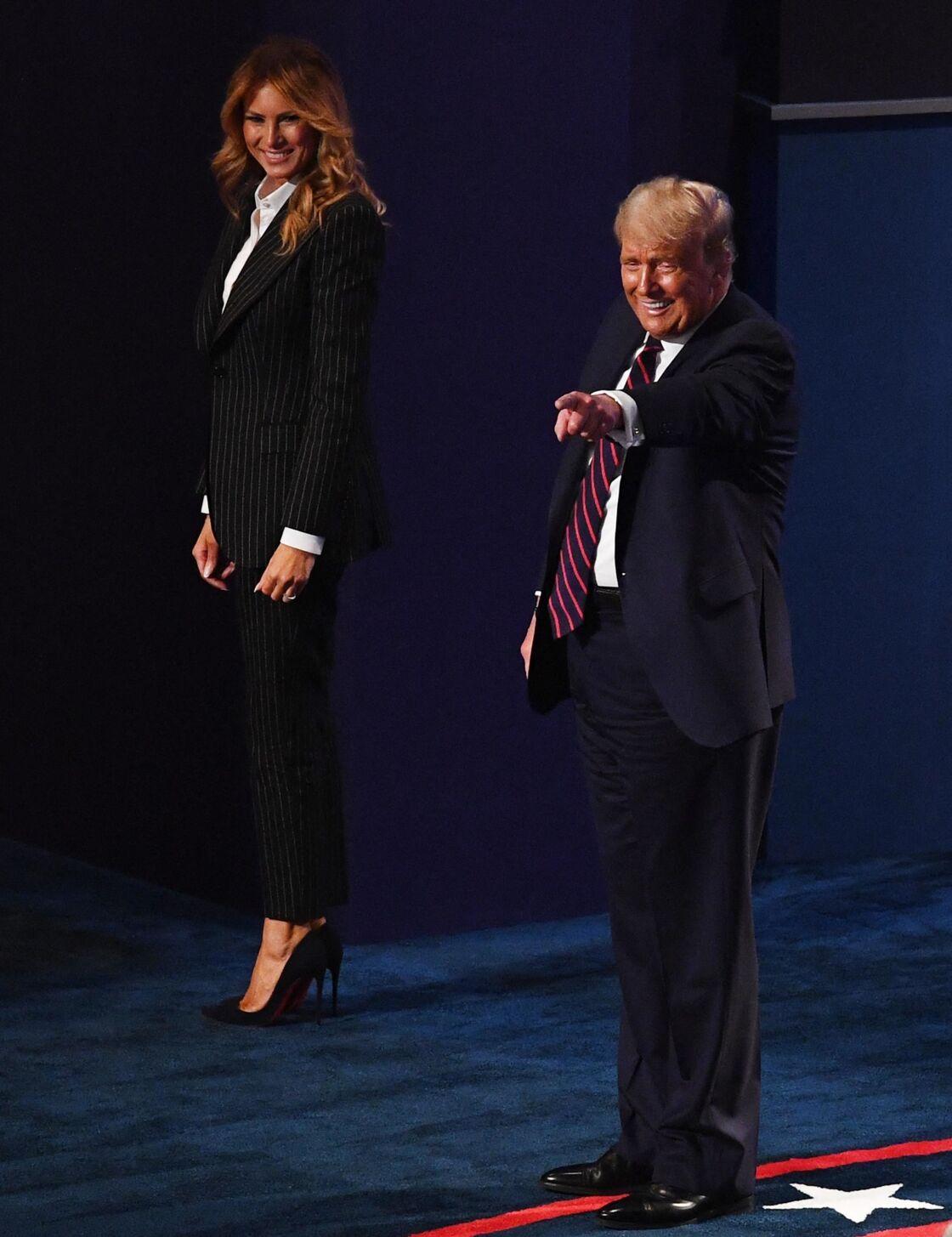 Donald et Melania Trump lors du débat