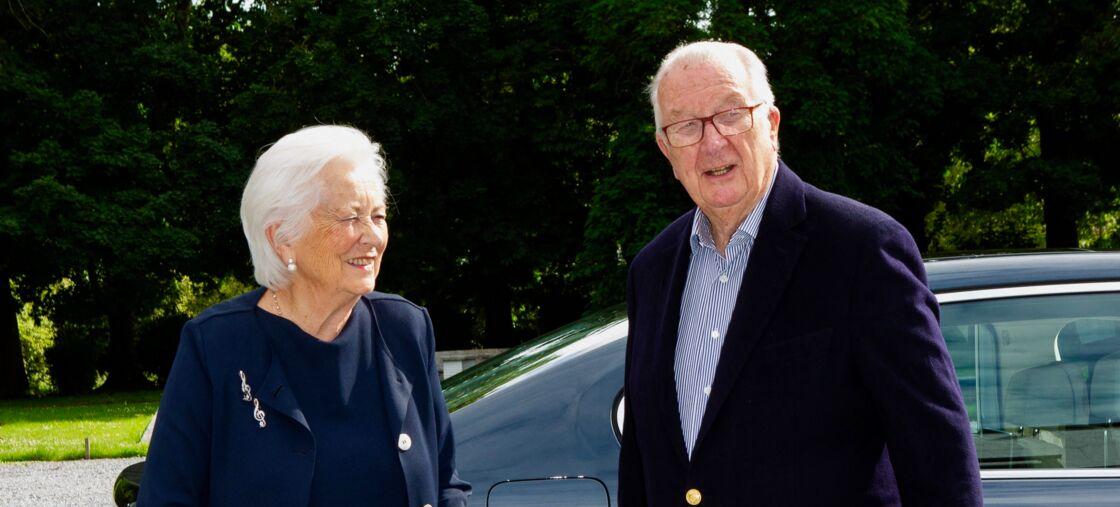 Le roi Albert II de Belgique et la reine Paola de Belgique, à Waterloo, en Belgique, le 9 juillet 2020.