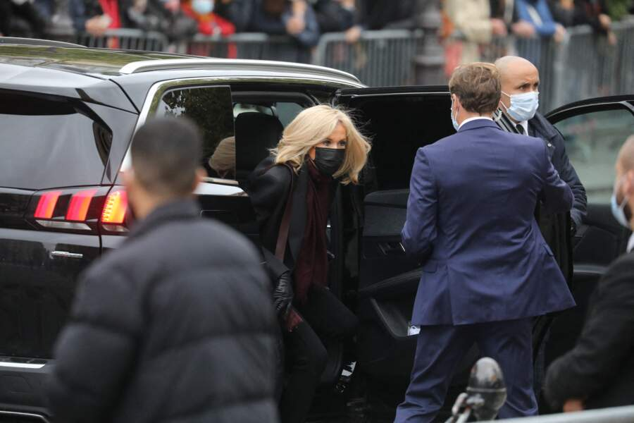 Brigitte Macron s'est également rendue à l'église Saint-Germain-des-Prés pour les obsèques de Juliette Gréco