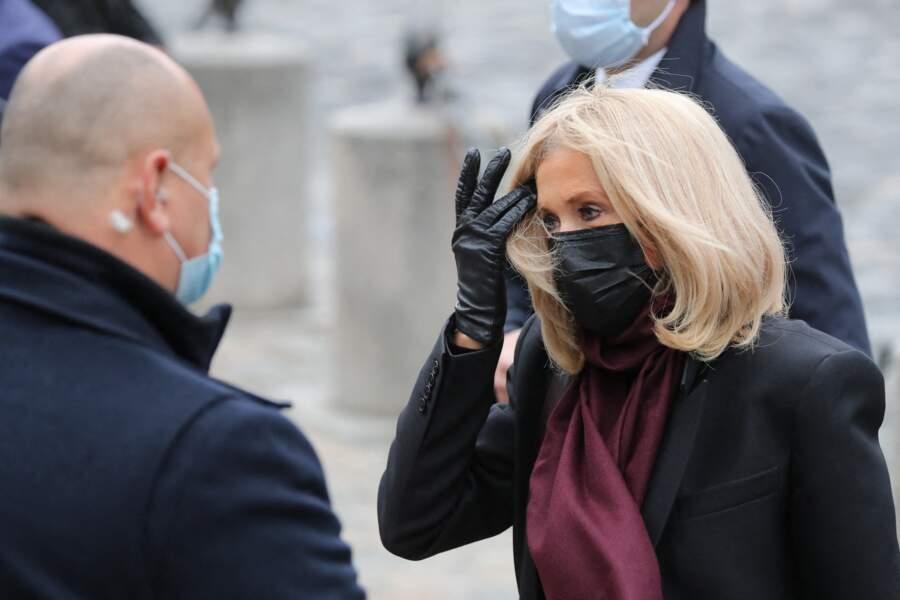 Brigitte Macron était une nouvelle très chic pour les obsèques de Juliette Gréco