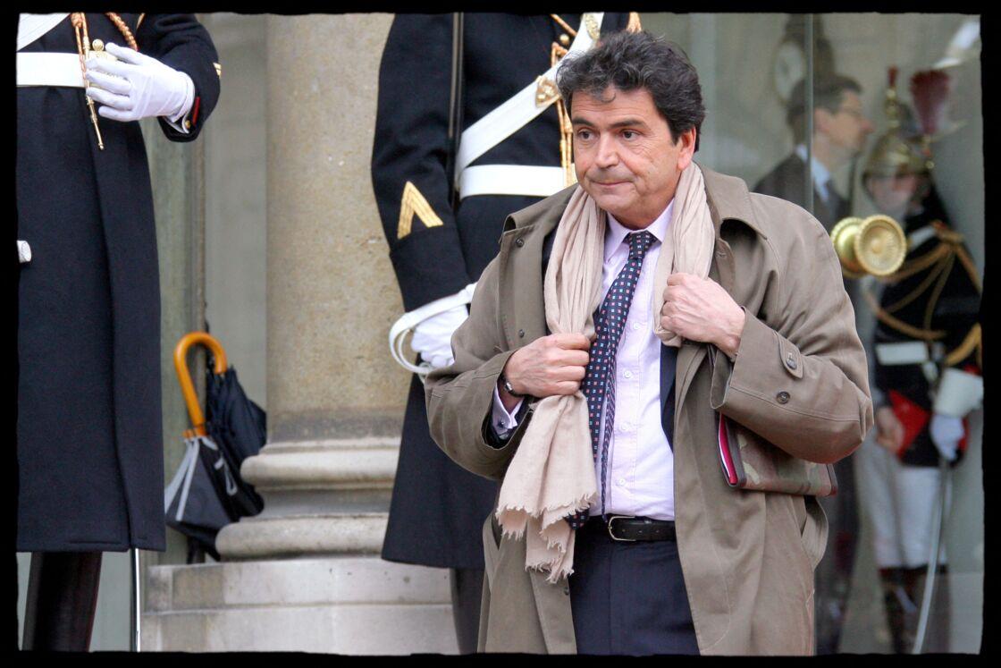 Pierre Lellouche sur le perron de l'Elysée, durant le quinquennat de Nicolas Sarkozy.