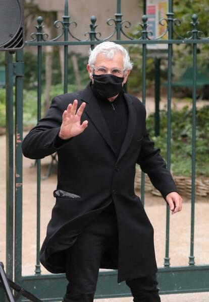 Le comédien et humoriste Michel Boujenah était lui aussi présent aux obsèques de Juliette Gréco