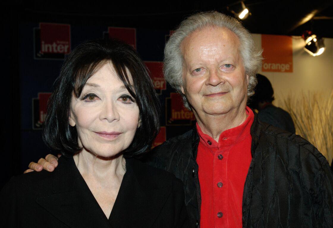 Juliette Gréco et Gérard Jouannest en 2007, dans les coulisses des Victoires de la musique qui ont consacré la chanteuse avec une victoire d'honneur.