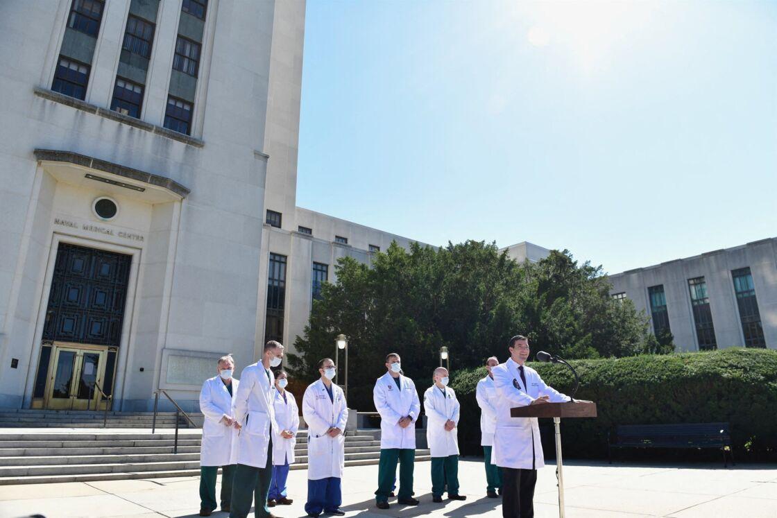 Les médecins de Walter Reed se veulent rassurants sur la santé de Donald Trump
