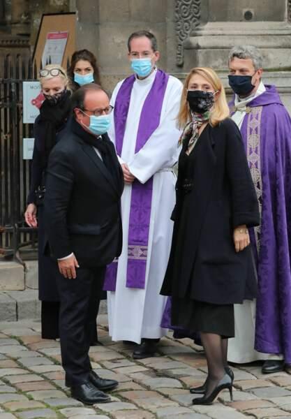 François Hollande et Julie Gayet ont tenu à rendre ensemble un dernier hommage à Juliette Gréco