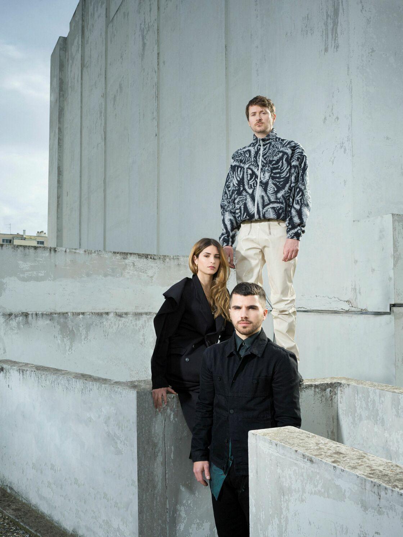 Marine Brutti, Jonathan Debrouwer et Arthur Harel, co-fondateurs du collectif (La)Horde et co-directeurs du Ballet national de Marseille depuis un peu plus d'un an.