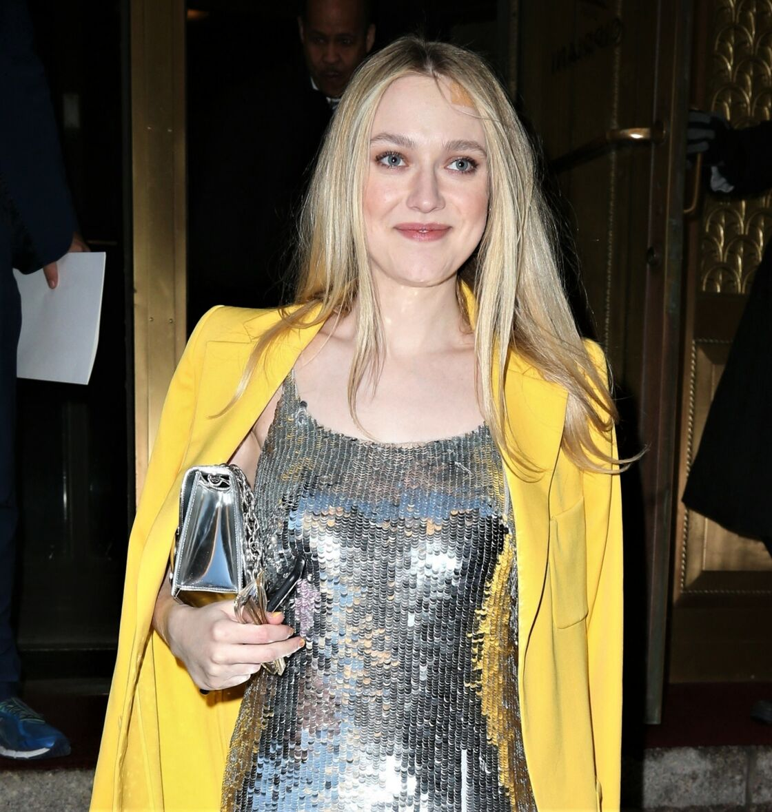 Dakota Fanning à la Fashion Week de New York, en février 2018.