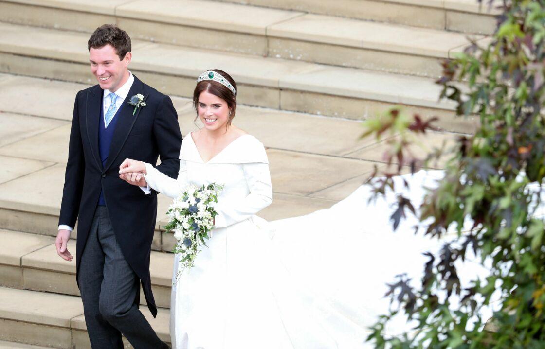 La princesse Eugenie et Jack Brooksbank lors de leur mariage