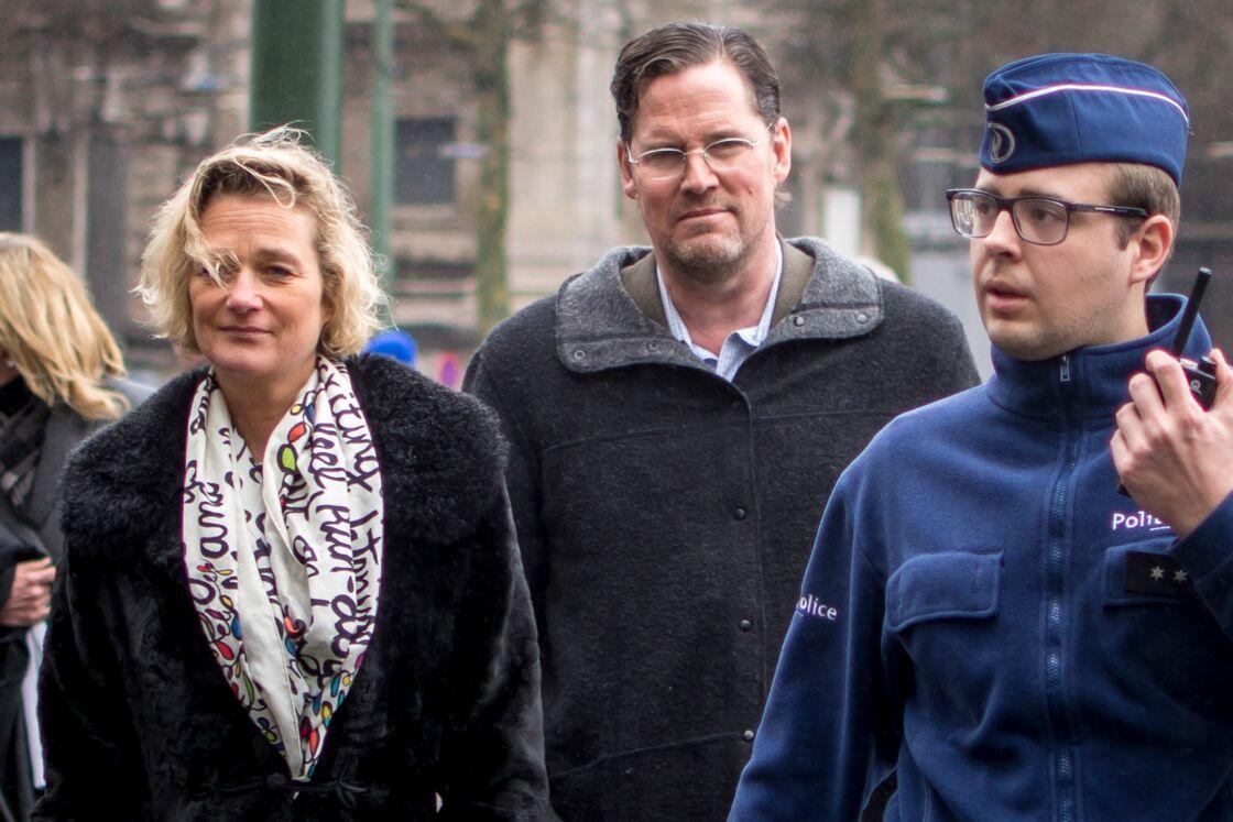 Delphine Boël, avec son époux Jim O'Hare (au centre), en 2017.