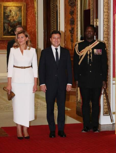 Kate Middleton, le prince William, Volodymyr Zelensky et sa femme Olena