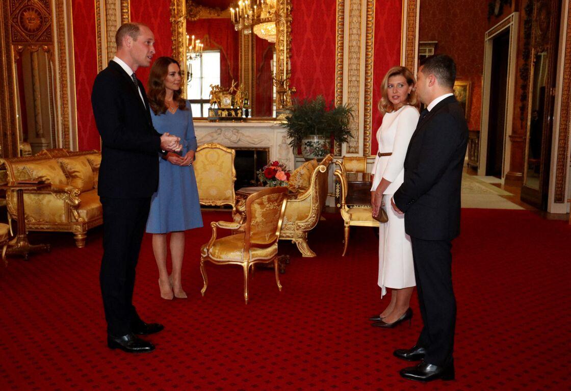 Kate Middleton, le prince William, le président ukrainien et sa femme