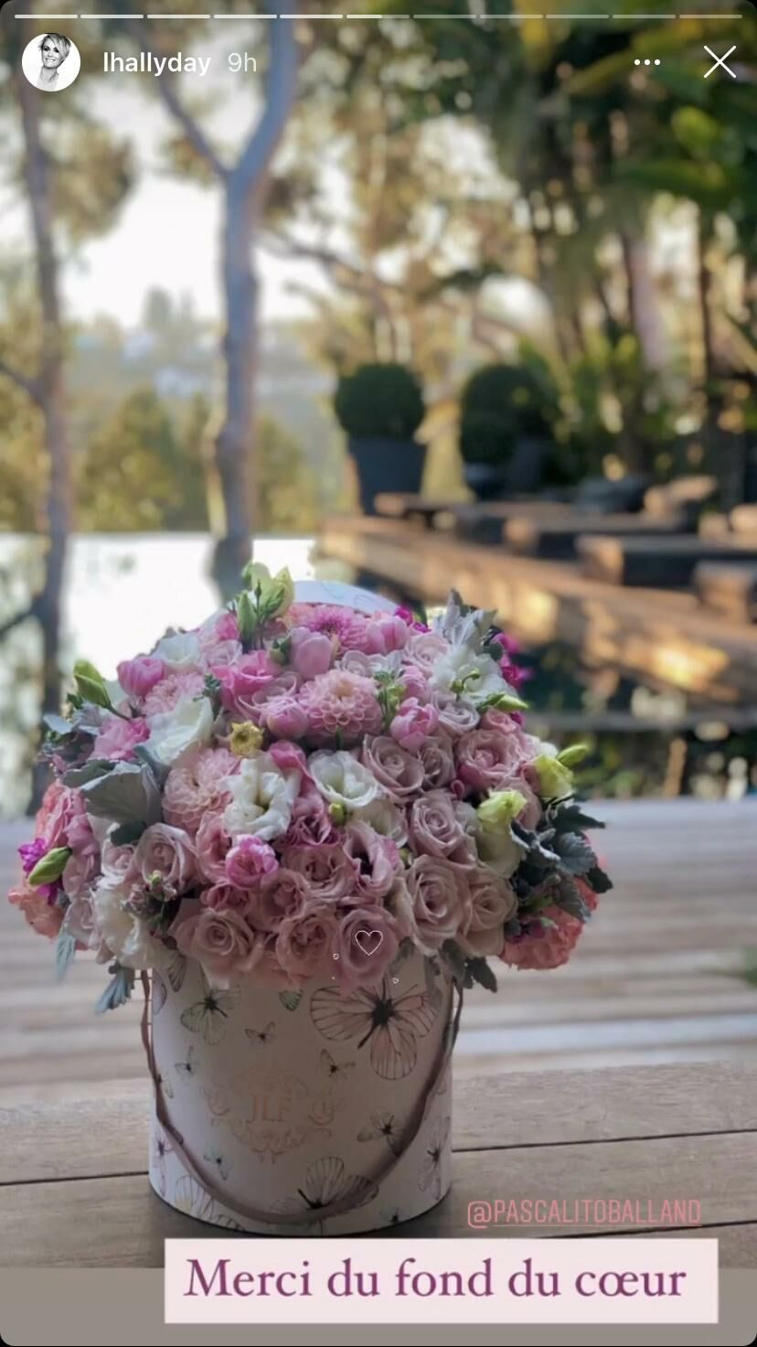 Le superbe bouquet immortalisé par Laeticia Hallyday