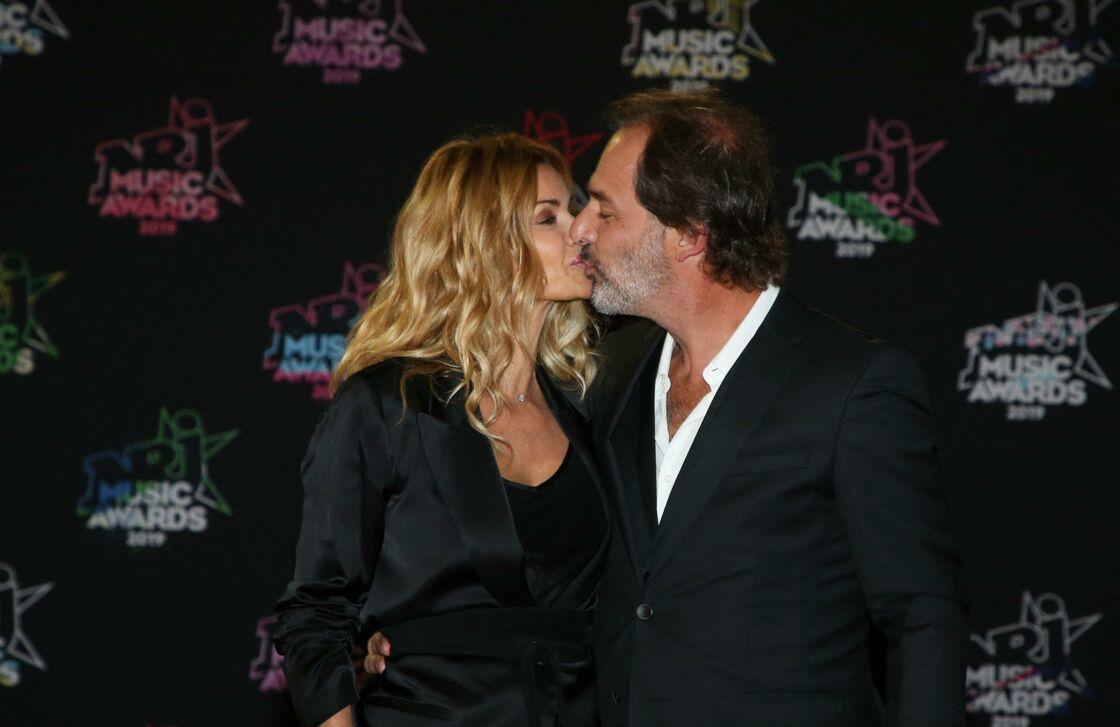 Ingrid Chauvin et son mari Thierry Peythieu - 21ème édition des NRJ Music Awards au Palais des festivals à Cannes le 9 novembre 2019.