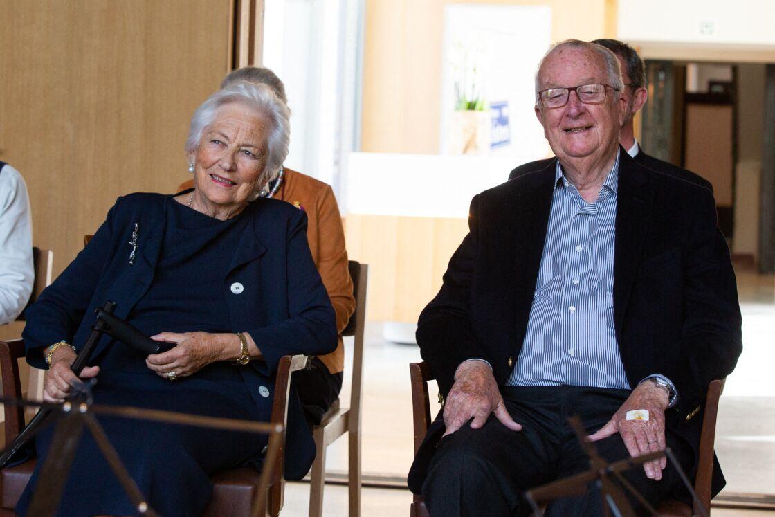 Paola de Belgique et Albert II assistent ensemble à un concert à Waterloo, le 9 juillet 2020.