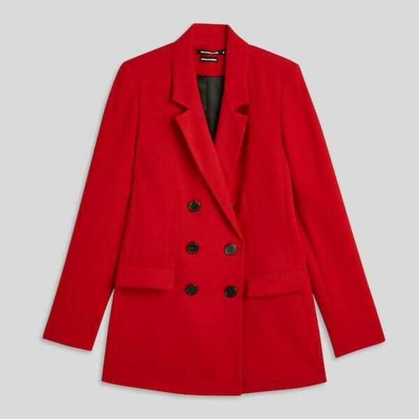 Blazer rouge, 69,99 € Monoprix