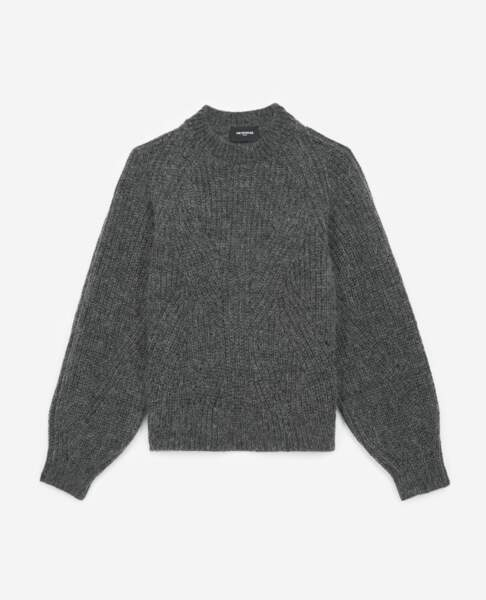 THE KOOPLES - Pull gris manches bouffantes, 195€