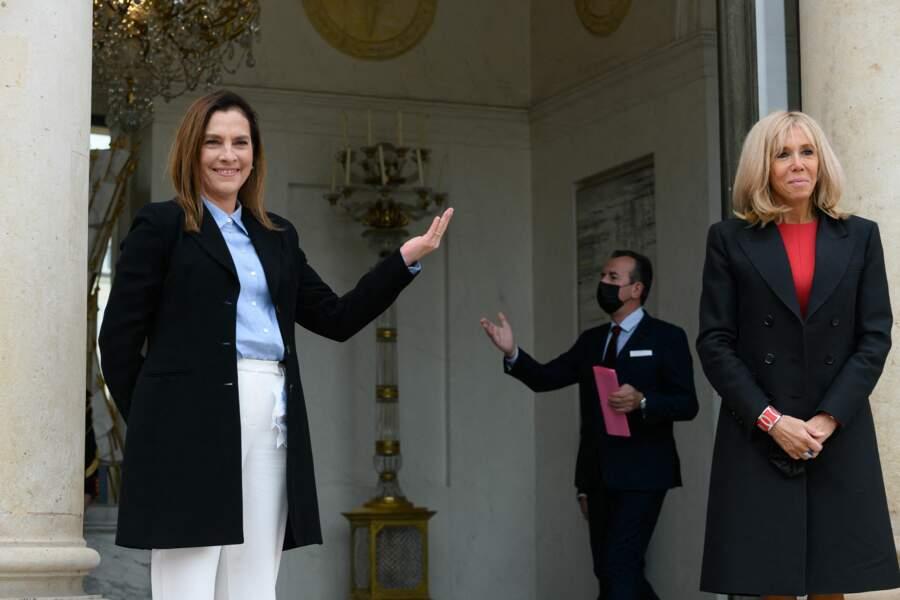 Ce 8 octobre 2020, Brigitte Macron a accueilli son homologue mexicaine, Beatriz Gutiérrez Müller.