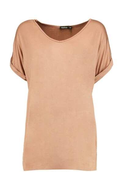 T-shirt beige, 10,50 €, Boohoo