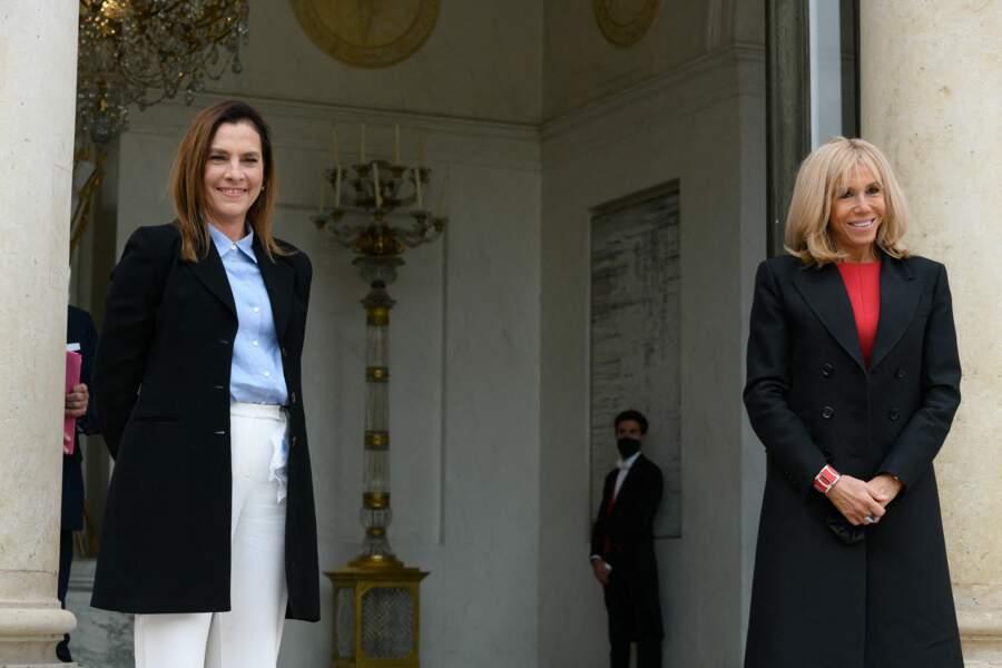 Ce 8 octobre, Brigitte Macron a reçu la visite de la première dame mexicaine, Beatriz Gutiérrez Müller, à l'Elysée.