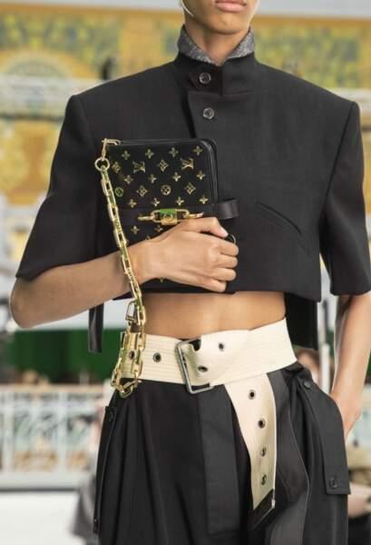 La maxi ceinture de Louis Vuitton été 2021.