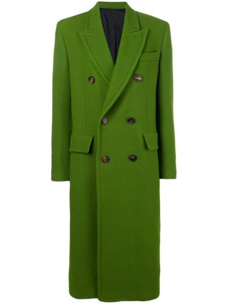 Manteau long vert, 410 €, Ami