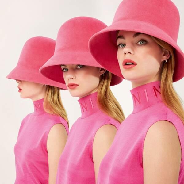 """La campagne du nouveau parfum de Nina Ricci """"Nina Rose"""" avec la mannequin hollandaise Estella Boersma"""